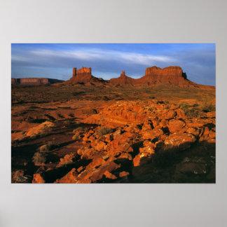 USA, Utah, Monument Valley. Sunset light Poster