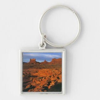 USA, Utah, Monument Valley. Sunset light Silver-Colored Square Keychain