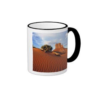 USA, Utah, Monument Valley. Wind creates Ringer Coffee Mug