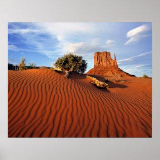 USA, Utah, Monument Valley. Wind creates Poster