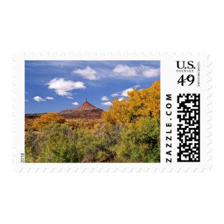 USA, Utah, near Canyonlands National Park on Postage Stamp