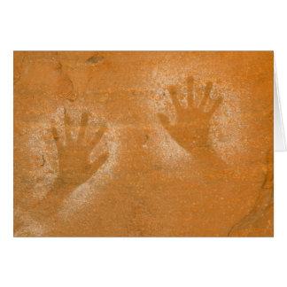 USA, Utah, Pictograph Hand-prints on sandstone, Card