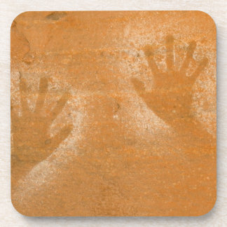 USA Utah Pictograph Hand-prints on sandstone Drink Coaster