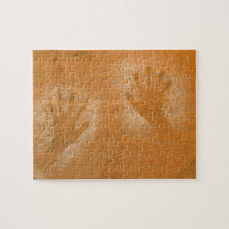 USA, Utah, Pictograph Hand-prints on sandstone, Jigsaw Puzzle