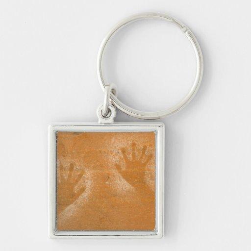 USA, Utah, Pictograph Hand-prints on sandstone, Key Chain