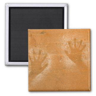 USA, Utah, Pictograph Hand-prints on sandstone, Fridge Magnet