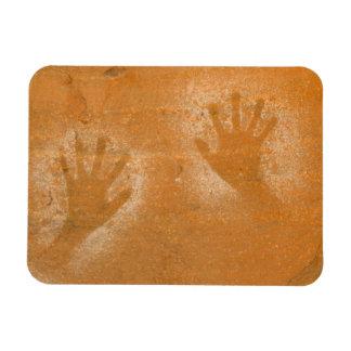 USA, Utah, Pictograph Hand-prints on sandstone, Vinyl Magnet