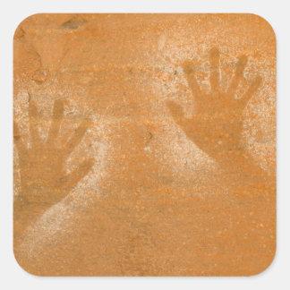 USA, Utah, Pictograph Hand-prints on sandstone, Square Sticker
