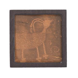 USA, Utah. Prehistoric petroglyph rock art at 2 Keepsake Box