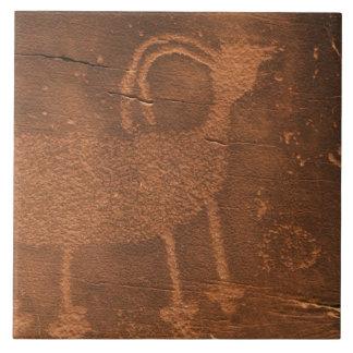 USA, Utah. Prehistoric petroglyph rock art at 2 Tile