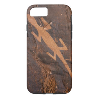USA, Utah. Prehistoric petroglyph rock art at iPhone 7 Case