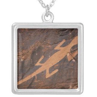 USA, Utah. Prehistoric petroglyph rock art at Silver Plated Necklace