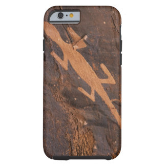 USA, Utah. Prehistoric petroglyph rock art at Tough iPhone 6 Case