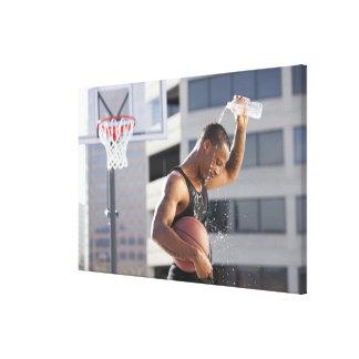 USA, Utah, Salt Lake City, basketball player Canvas Print