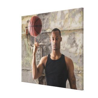 USA, Utah, Salt Lake City, Portrait of young man Canvas Print