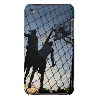 USA, Utah, Salt Lake City, two young men playing 2 Case-Mate iPod Touch Case