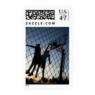 USA, Utah, Salt Lake City, two young men playing 2 Postage