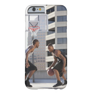 USA, Utah, Salt Lake City, two young men playing Barely There iPhone 6 Case