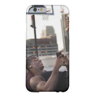 USA, Utah, Salt Lake City, Young man lying on Barely There iPhone 6 Case