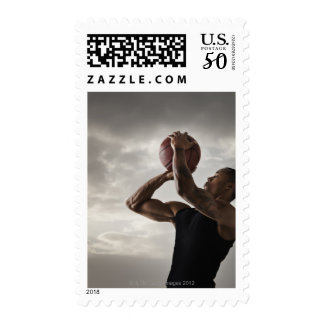 USA, Utah, Salt Lake City, Young man playing 2 Postage