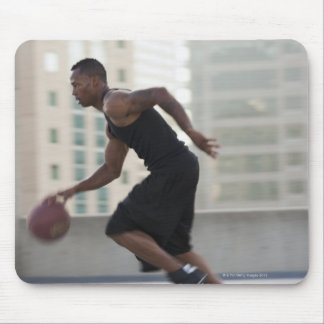 USA, Utah, Salt Lake City, Young man playing Mouse Pad