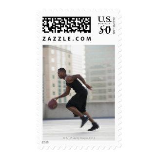 USA, Utah, Salt Lake City, Young man playing Postage