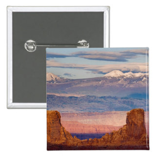 USA, Utah. Scenic of La Sal Mountains from Dead Button