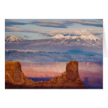USA, Utah. Scenic of La Sal Mountains from Dead Card