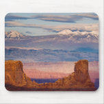 USA, Utah. Scenic of La Sal Mountains from Dead Mouse Pad