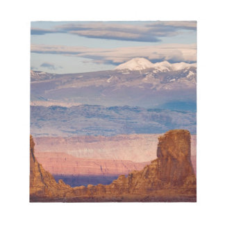 USA, Utah. Scenic of La Sal Mountains from Dead Note Pad