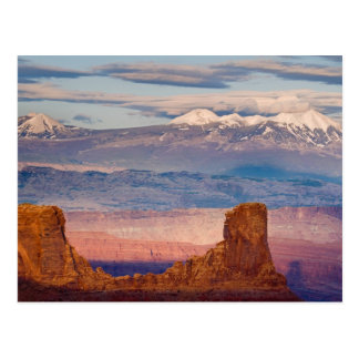 USA, Utah. Scenic of La Sal Mountains from Dead Postcard