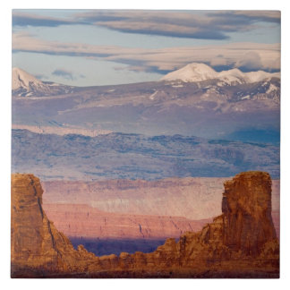 USA, Utah. Scenic of La Sal Mountains from Dead Tile