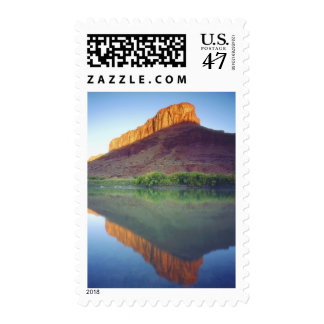 USA, Utah, Sunlight on a mesa reflecting in the Postage