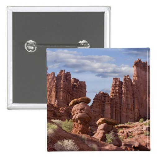 USA, Utah. View of Fisher Towers. Credit as: Don Pinback Button