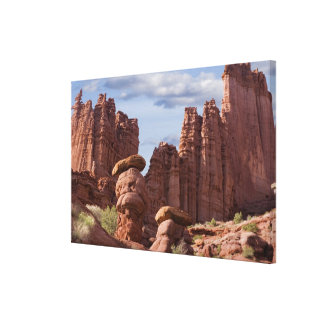 USA, Utah. View of Fisher Towers. Credit as: Don Canvas Print