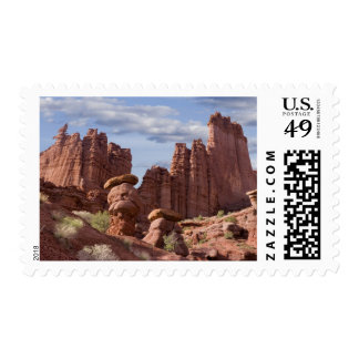 USA, Utah. View of Fisher Towers. Credit as: Don Postage Stamp