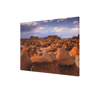 USA; Utah. View of Goblin Valley State Park at Canvas Print