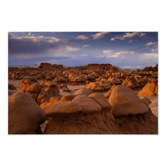 USA; Utah. View of Goblin Valley State Park at Poster