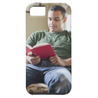 USA, Utah, Young man reading book iPhone SE/5/5s Case