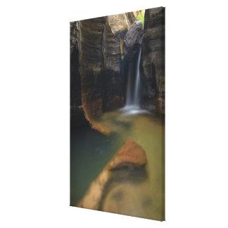 USA, Utah, Zion National Park.  Keyhole Falls in Canvas Print