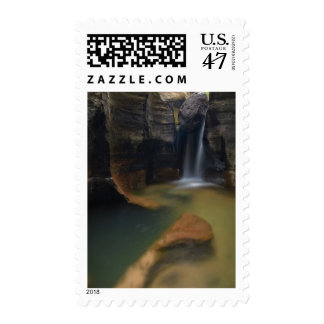 USA, Utah, Zion National Park.  Keyhole Falls in Postage Stamp