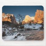 USA, Utah, Zion National Park. Mountain sunrise Mousepad