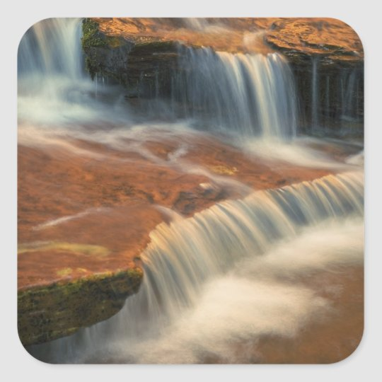 USA, Utah, Zion National Park. Scenic from 2 Square Sticker