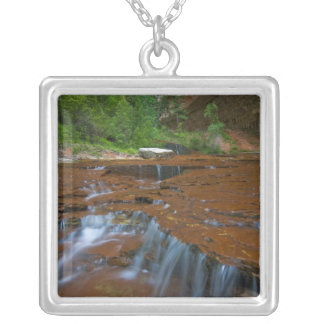 USA, Utah, Zion National Park. Scenic from Square Pendant Necklace
