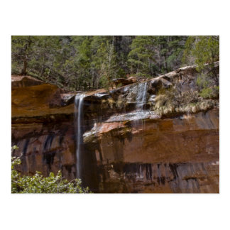 USA, Utah, Zion National Park, Water Falls at Postcard