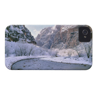 USA, Utah, Zion NP. New snow covers the canyon Case-Mate iPhone 4 Case