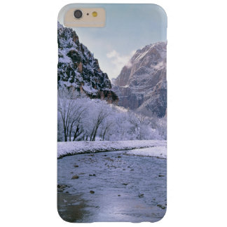 USA, Utah, Zion NP. New snow covers the canyon Barely There iPhone 6 Plus Case