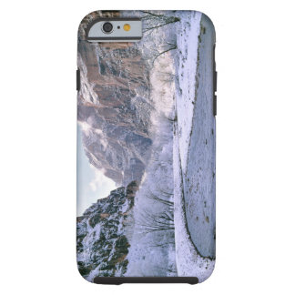 USA, Utah, Zion NP. New snow covers the canyon Tough iPhone 6 Case