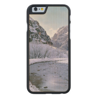 USA, Utah, Zion NP. New snow covers the canyon Carved® Maple iPhone 6 Slim Case