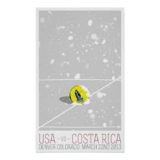 USA v Costa Rica Posters
